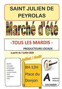 Marché de St Julien de Peyrolas