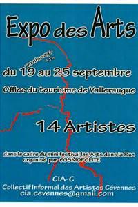 Expo des Arts à Valleraugue, dans le cadre du mini festival Les Arts dans la Rue