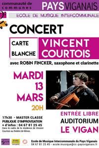 Concert Vincent Courtois