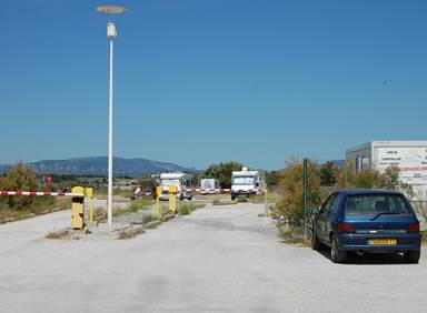 Aire camping car Leucate Plage