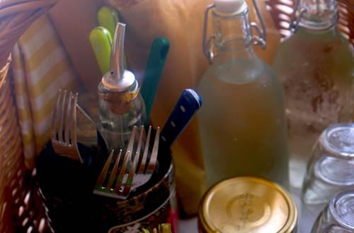 parc parfum d'aventure panier pique-nique, produits du jardin et de producteurs voisins! ©