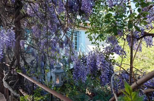 la vieille maison Durfort vue du balcon sur la maison ©