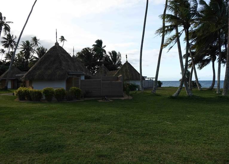 Les bungalows sur le front de mer